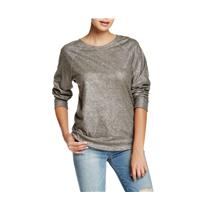 New 1 Current/Elliott Historic Silver The Letterman Raglan Crewneck Sweatshirt