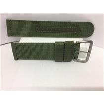 Seiko Watchband 22mm Military Green Fabric Washable Strap w/Pins