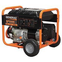 GENERAC Recoil Gas Portable Generator, 5500 Watt, 6875 Surge Watt, 120VAC/240VAC