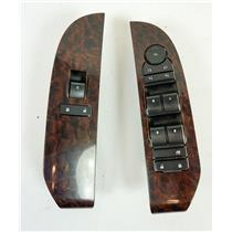 07-09 Chevy Tahoe Suburban Yukon Silverado Master Window Switches Maple Bezels
