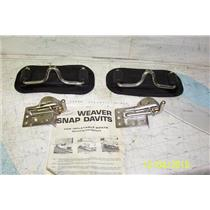 Boaters' Resale Shop of TX 1811 2252.07 WEAVER SNAP DAVITS FOR INFLATABLE  BOATS