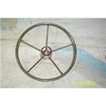 "Boaters' Resale Shop of TX 1811 2252.27 STAINLESS 16"" STEERING WHEEL - 1"" SHAFT"