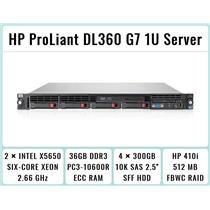 HP ProLiant DL360 G7 1U Server 2xSix-Core Xeon 2.66GHz + 36GB RAM + 4x300GB SAS