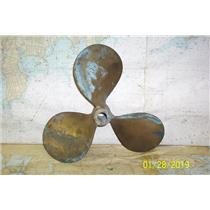 "Boaters' Resale Shop of TX 1901 2454.12 BRONZE 3 BLADE 13RH15 PROP FOR 1"" SHAFT"