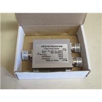 Gelvo Telecom PS-825-50-2MNI, 2 Way Power Splitter, 800-2500MHz