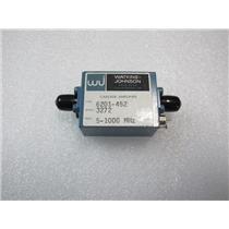 WATKINS JOHNSON 6201-452 CASCADE AMPLIFIER, 5-1000 MHz