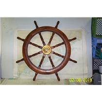"Boaters' Resale Shop of TX 1902 0424.01 VINTAGE 42"" WOODEN SHIPS WHEEL"