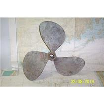 "Boaters Resale Shop of TX 1902 0424.04 BRONZE 3 BLADE 24RH22 PROP-1.75"" SHAFT"