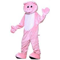 Pink Pig Adult Piggy Mascot Costume