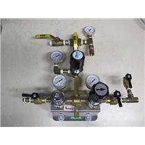 Byrne Specialty Gases Regulator Control Valve Unit w/ Gauges