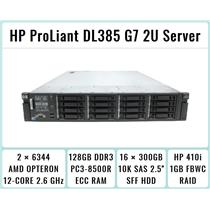 HP ProLiant DL385 G7 Server 2×Opteron 6344 12-Core 2.6GHz + 128GB RAM + 16×300GB