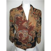 CJ Banks Size X Brown Print 3/4 Sleeve Tunic