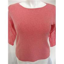 CLEARANCE Talbots 3/4 Slv Round Neck Top HeatherPink XP