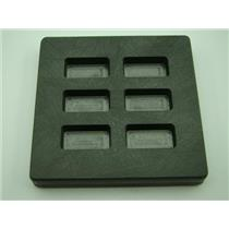 1/2 oz x 6 High Density Graphite Mold Gold Bar-1/4 oz Silver 6-Cavities Scrap