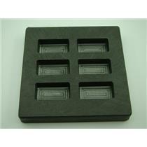 1 oz x 6 High Density Graphite Mold Gold Bar-1/2 Silver 6-Cavities Copper/Scrap