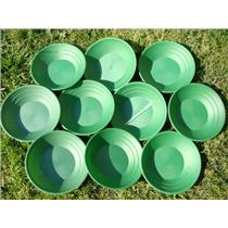 Lot of 50 Green Gold Pans Panning Mining Sluice-Prospecting - Clean Up-Resale