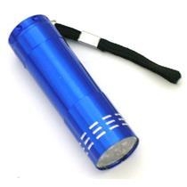 """9 LED Flashlight - Blue Aluminum Body - Pocket size - 3-1/4"""" Long-Camping-  (B97"""