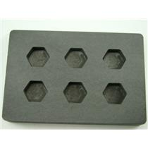 High Density Graphite Mold 1/2 oz Gold Bar Silver 6-Cavities Hexagon Copper