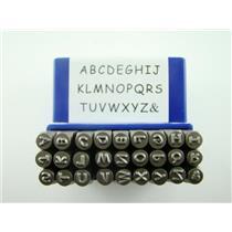 "Sienna 1/8""  3MM Upper Case Letter Punch Stamp Set  Metal-Steel-Hand A-Z"