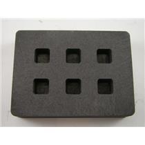 Graphite Mold 1/4 oz Gold Bar Silver 6-Cavities Cube Ingots Copper 1/8 oz  (B95)