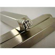 """Gardenia Flower"" 1/4""-6mm-Large Stamp-Metal-Hardened Steel-Gold&Silver Bars"