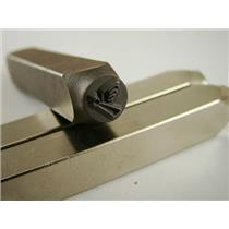 """Christmas Angel""1/4""-6mm-Large Stamp-Metal-Hardened Steel-Gold&Silver Bars"