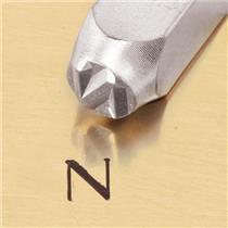 """""""Greek-Nu-Sign"""" 1/4""""-6mm-Large Stamp-Punch-Metal-Steel-Gold & Silver Bars Copper"""