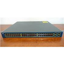 Cisco WS-C3560-48PS-S Catalyst 3560 1U 48-Port 10/100 PoE & 4 SFP Gigabit Switch