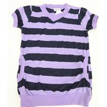 Sz 3T NWT Splendid Littles Girls Orchid Purple/Navy Stripe Pocket Tee Jersey Top