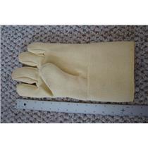 "Professional Kevlar Heat Glove-Furnace Kiln Fire 13"" Left Hand Gold Silver"