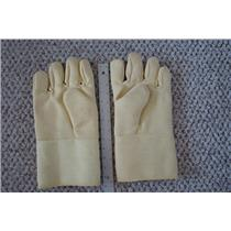 """1 Pair Professional Kevlar Heat Gloves-Furnace Kiln Fire 13"""" Gold Silver Safety"""