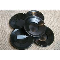 "Lot of 10 - 10"" Black Gold Pans w/ Bottle Snuffer-Panning Kit-Mining BackPack"