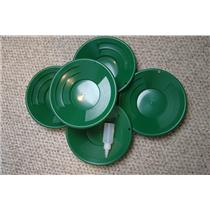 """Lot of 10 - 10"""" Green Gold Pans w/ Bottle Snuffer-Panning Kit-Mining BackPack"""