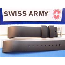 Swiss Army Watch Band Alliance Rectangle Black Rubber 20mm