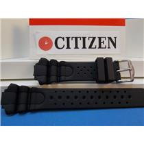 Citizen Watch Band Aqualand lll JP1060, BJ2040 Black Resin Divers Strap  200m