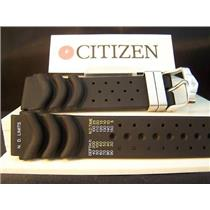 Citizen Watch Band Aqualand 20mm.Original for model BJ2000 Black Rubber