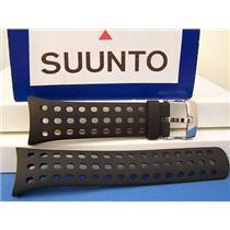 Suunto Watch Band M5. Man's Black Resin. w/Attach Pins. Watchband. Strap