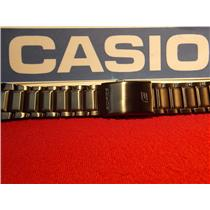 Casio Watch Band EFA-131 D. Black PVD Steel Edifice Bracelet. Black Metal Band