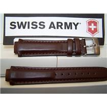 Swiss Army Watch Band Excursion Ladies Brown Leather w/pins. Strap / Watchband