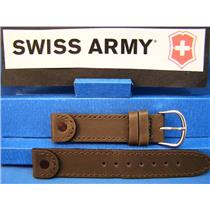 Swiss Army Watch Band Cavalry Ladies Brown Leather 16mm w/Rivet