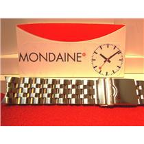 Mondaine Swiss Railways Watch Band 24mm Wide All Solid Steel Curved End Braclet