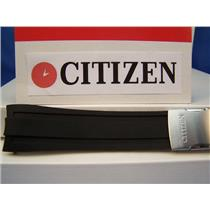 Citizen Watch Band AT4008 -01E Black Rubber Strap For Perpetual Calendar Watch