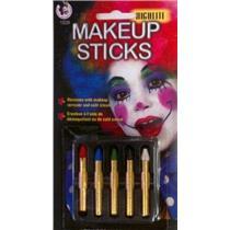 Highlite Makeup Sticks Red, Blue, Green, Black, White Crayons