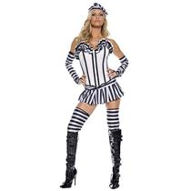 5 Piece Women's Man Slaughter Sexy Convict Adult Plus Size Costume 1X/2X