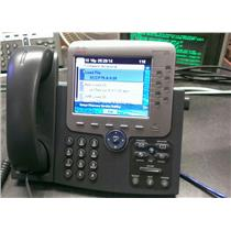 Cisco CP-7975G 8 Button Line VoIP Color LCD Touch Screen Phone SCCP OR SIP