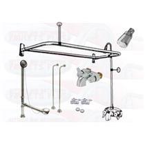 add a shower kit for clawfoot tub. Chrome Clawfoot Tub Faucet Add A Shower Kit W D  Faucets Kits Kitchen Bathroom Plus