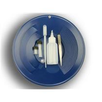 "6 Pc Gold Panning Clean up Kit-Snuffer-Sniffer-Tweezers-2 Vials-Blue 10"" Pan"