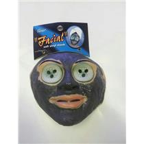 Facial Face Mask Cucumbers On Eyes Bath Spa Soft Vinyl Costume Mask