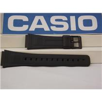 Casio Watch Band AB-10, AB-20, DB-53, DB-55, DBA-80, FB-52.Black Strap Watchband