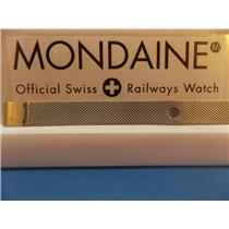 Mondaine Swiss Railways Watch Band 14mm Bracelet One Piece Steel Mesh Watchband